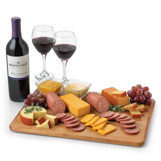 Hickory Farms Signature Gift Box with Red Wine