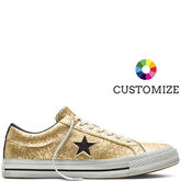 Converse Custom One Star Glitter