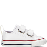 Chuck Taylor All Star 2V Leather Toddler Weiß