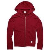 Men's Essentials Full Zip Hoodie Red Block
