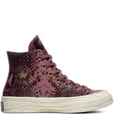 Chuck 70 Reptile Leather High Top Vintage Wine/Black/Egret