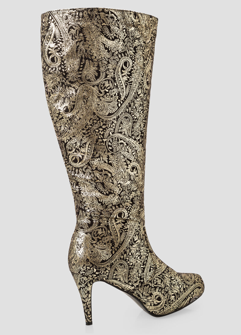 Glam Knee High Boots-Wide Calf Boots-Ashley Stewart-068-ASH29993