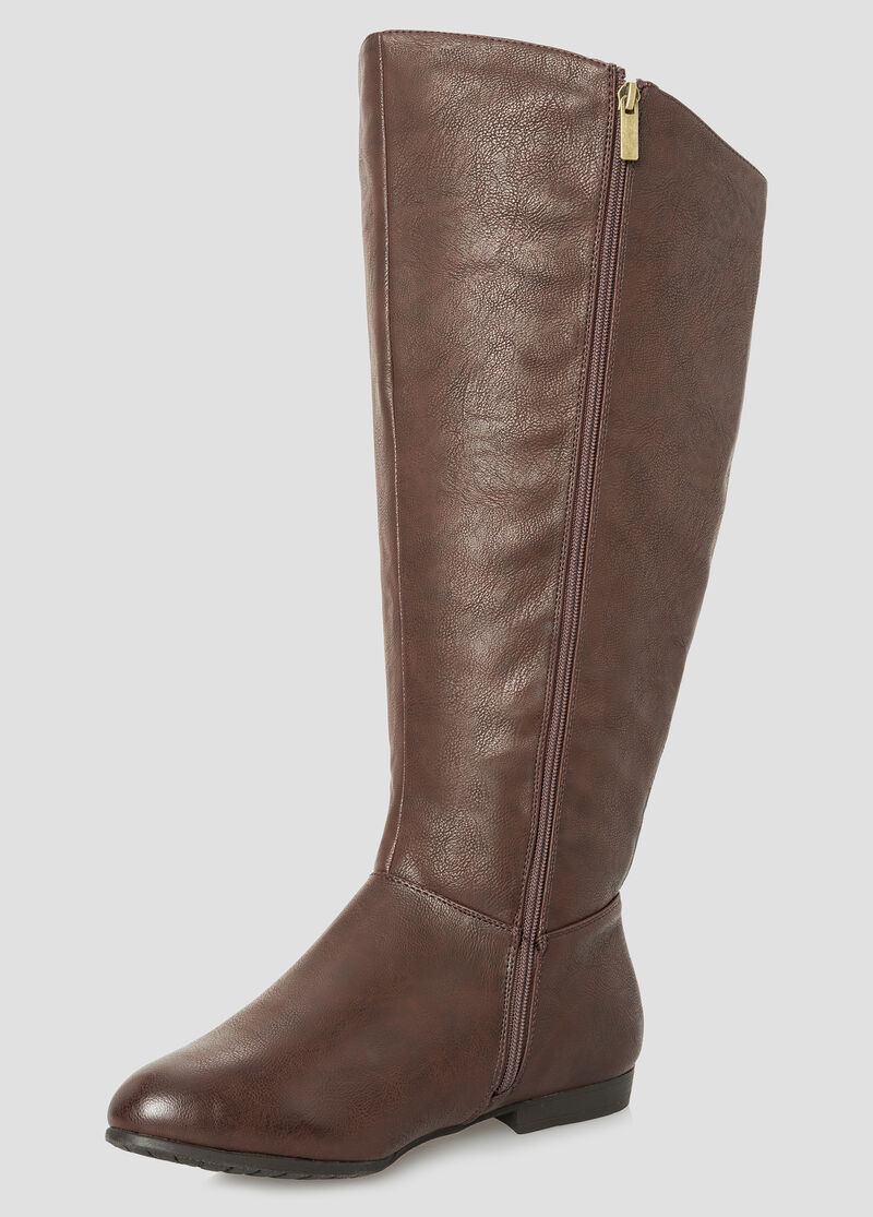 Plus Size Basic Tall Boot - Extra Wide Calf 068-ASH22253WW