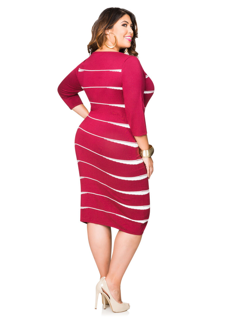 Ribbed Bodycon Sweater Dress-Plus Size Jackets-Ashley Stewart