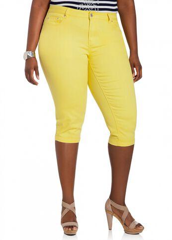 Cuffed Capri Shorts