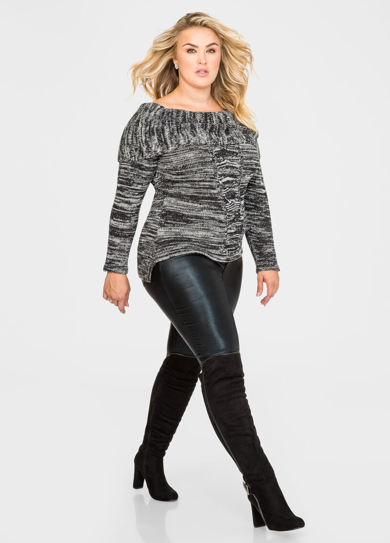 c97f50fb26b Plus Size Suede Knee High Boot - Wide Calf