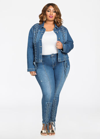 Plus Size Outfits - Double Denim Diva