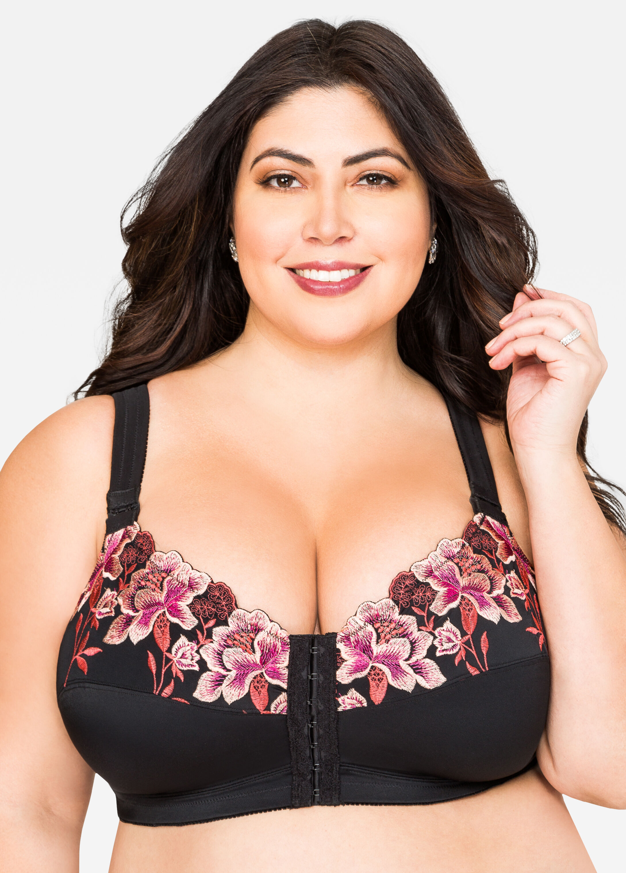 Plus Size Full Coverage Soft Cup Posture Bra-054-AS-16422
