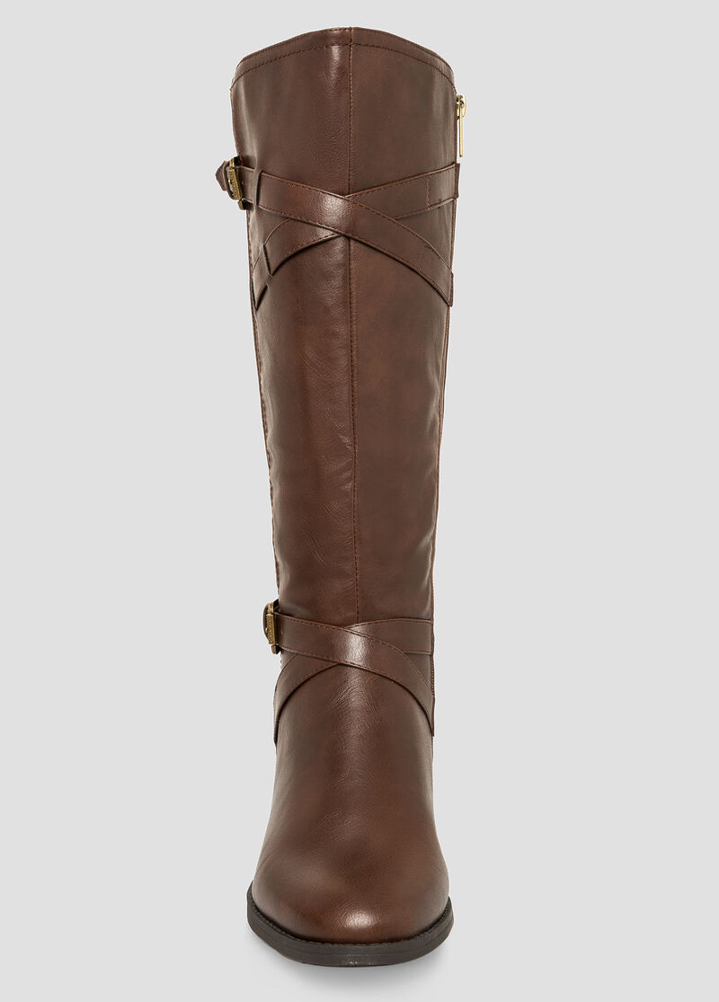 Plus Size Classic Riding Boot - Wide Calf Wide Width 068-ASH23253