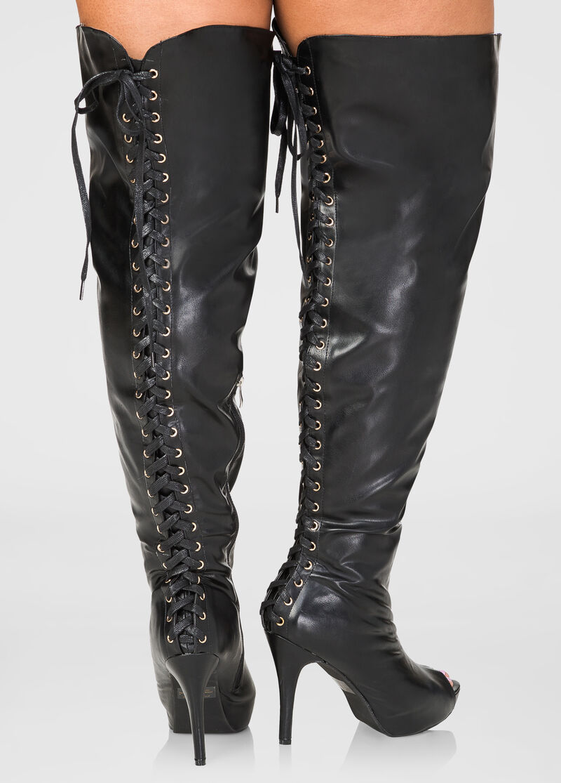 Over The Knee Extended Calf Boots | Fashion Boots