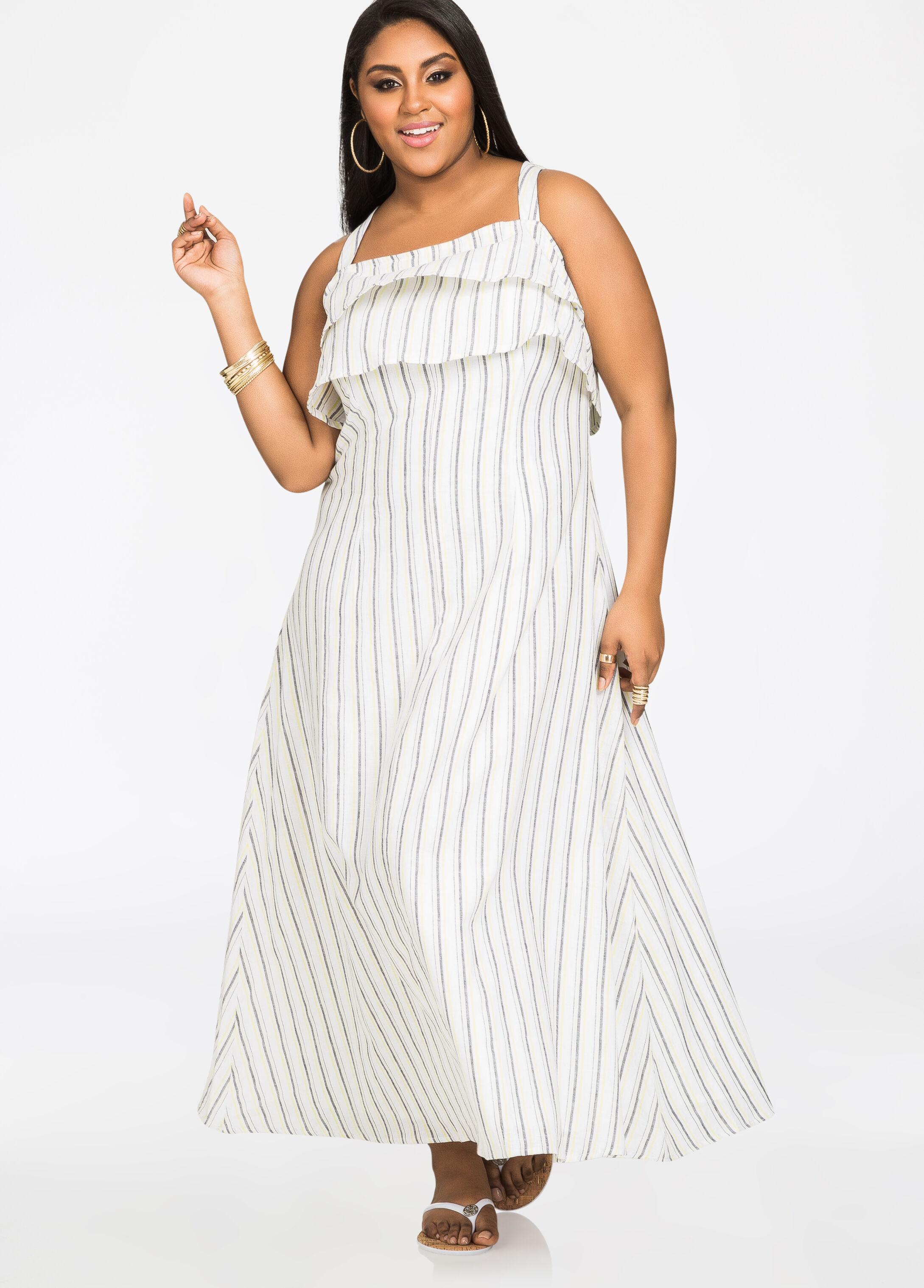 Plus-Size Linen Pants, Dresses & Tops | NEW Linen Clothes ǀ Ashley ...