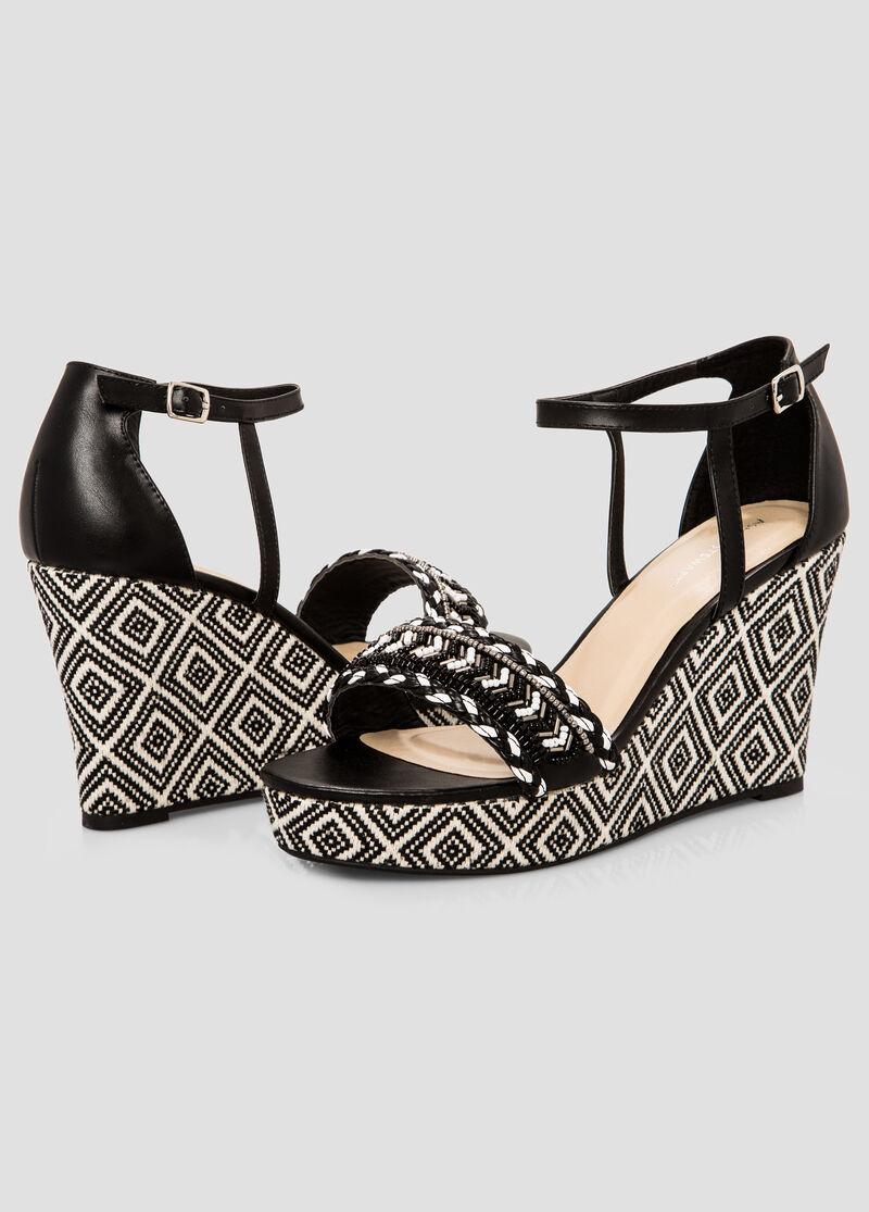Womens sandals in wide width - Geo Wedge Sandal Wide Width