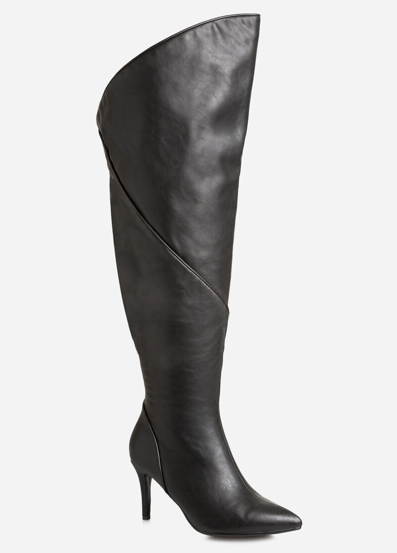 Extended Over The Knee Boot-Wide Calf Boots-Ashley Stewart-068-ASH-SA1