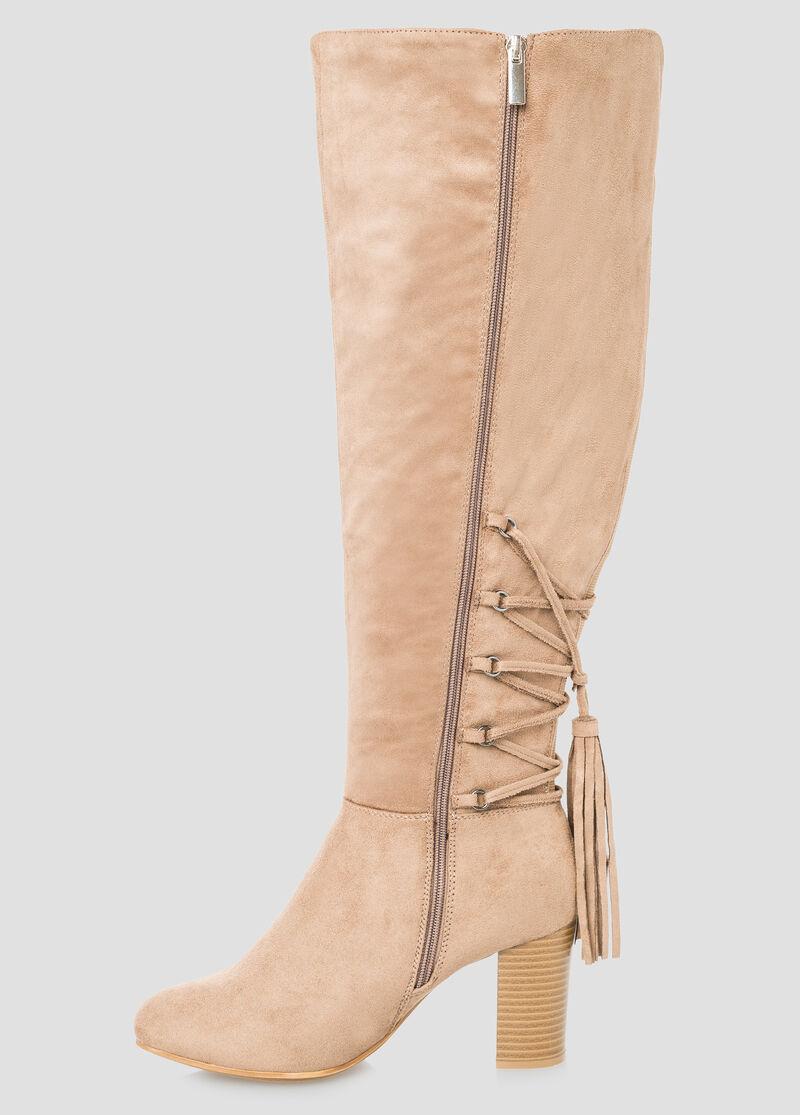 Plus Size Tassel Detail Boot - Wide Calf, Wide Width 068-ASH23141