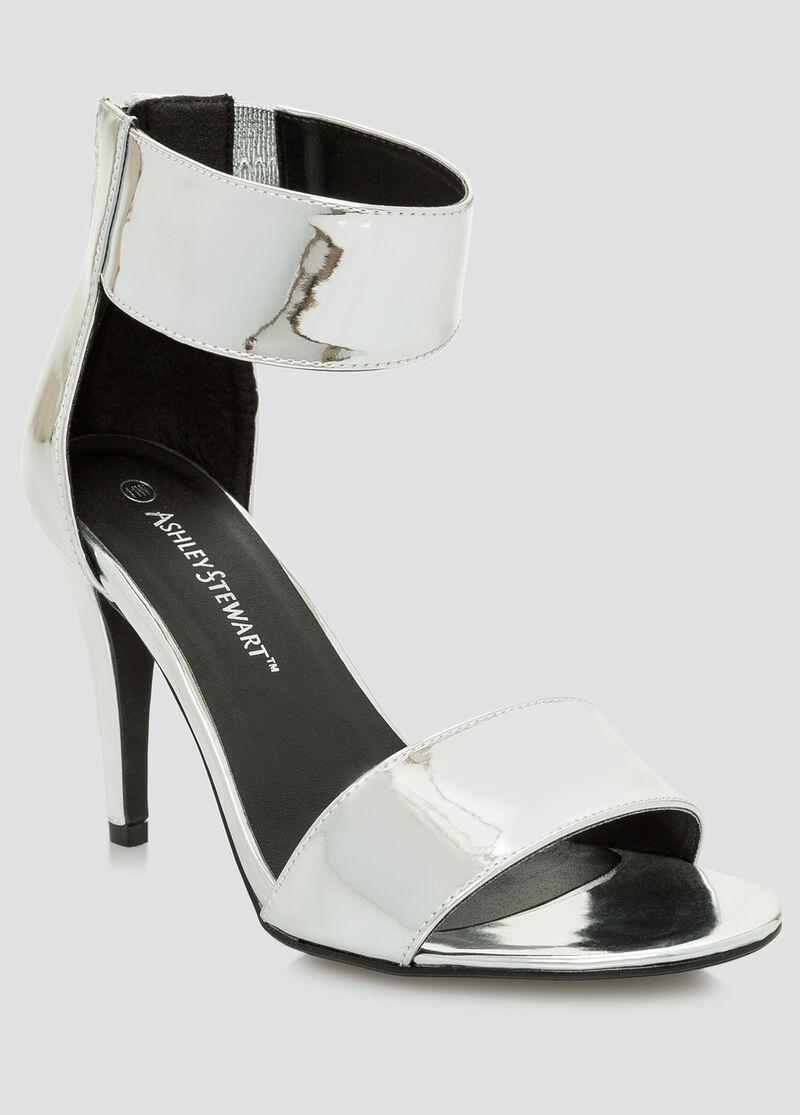 Black dress sandals wide width -  Mirror Metallic Dress Sandal Wide Width