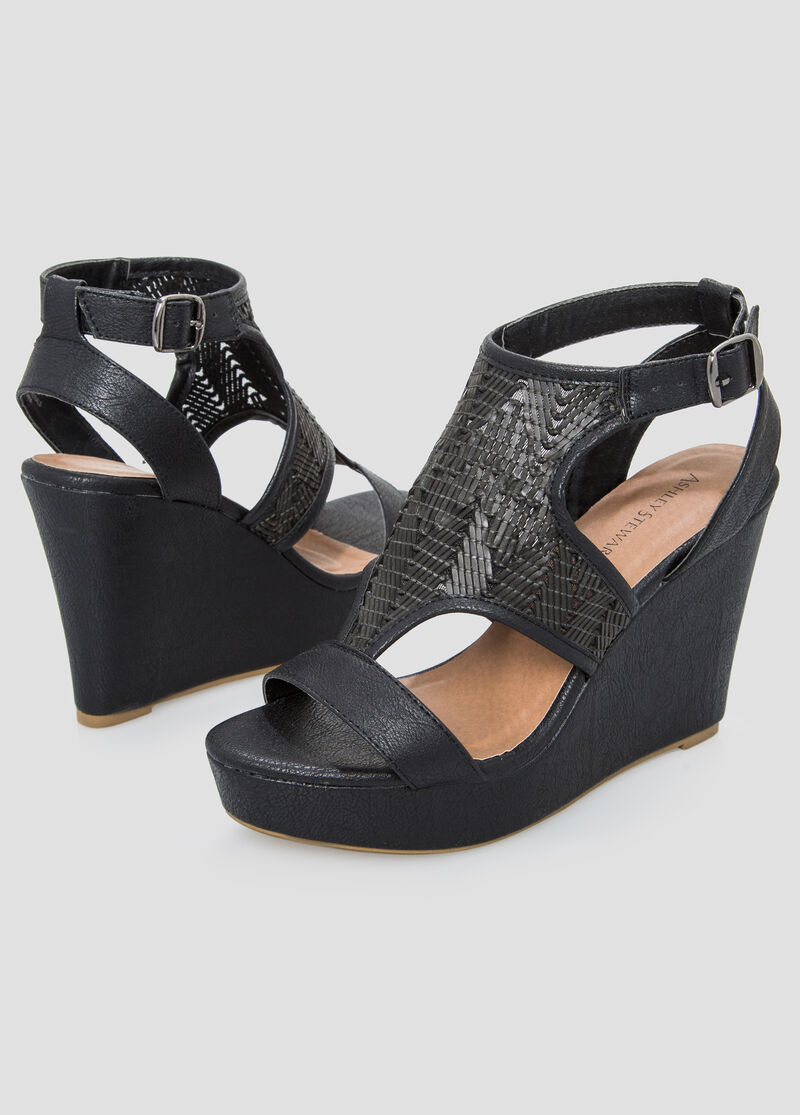 Womens sandals in wide width - Basket Wedge Sandal Wide Width