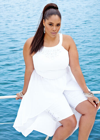 Plus Size Outfits - White Hot Summer