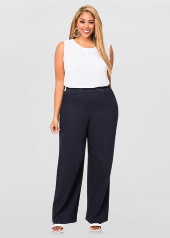 plus size wide leg pants | pants market