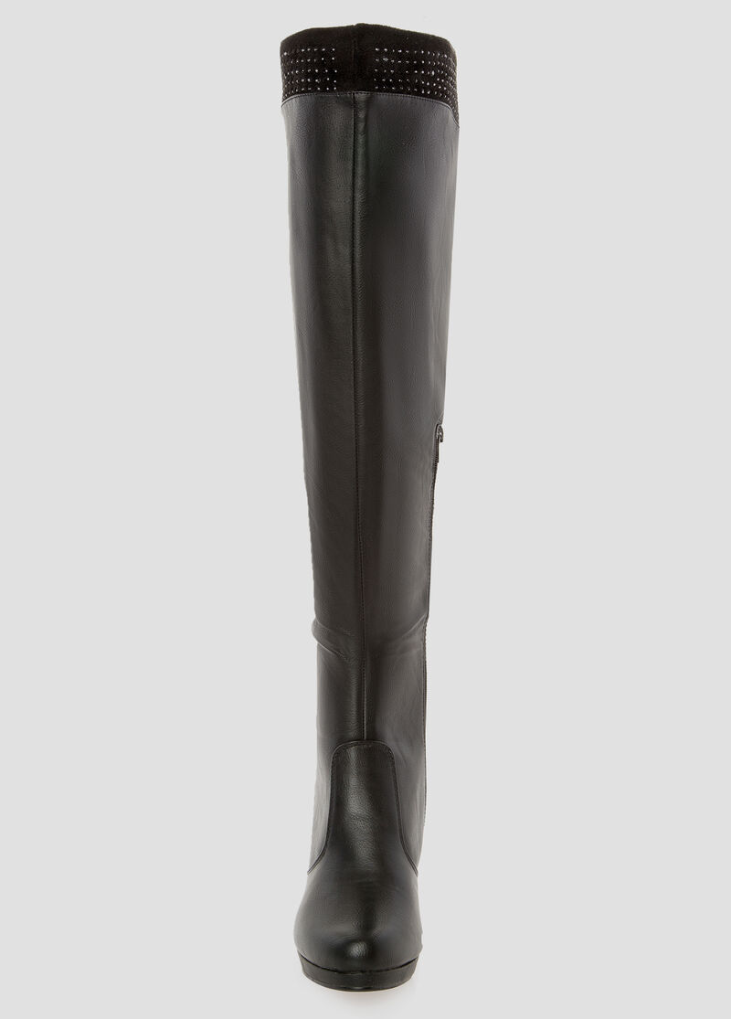 Wide Width Wide Calf Over The Knee Boot With Heel-Wide Width Boots ...
