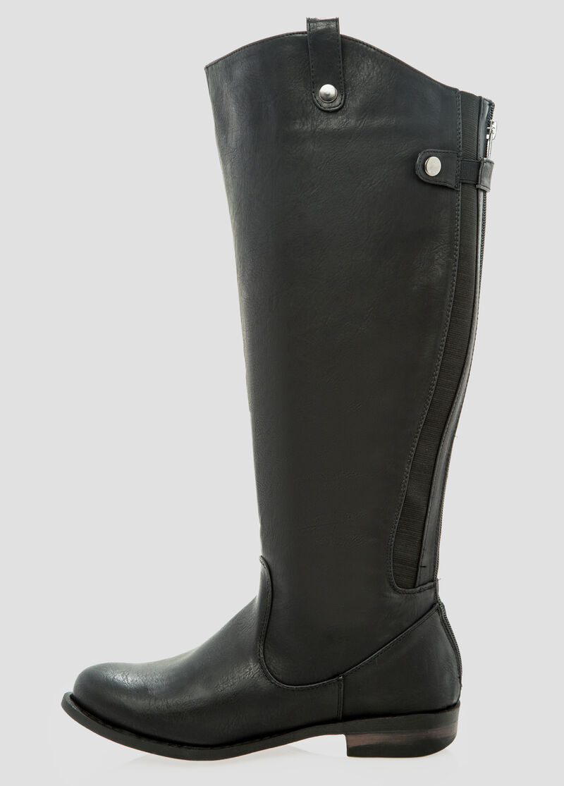 Rory Riding Boot -Wide Width Women's Shoes-Ashley Stewart
