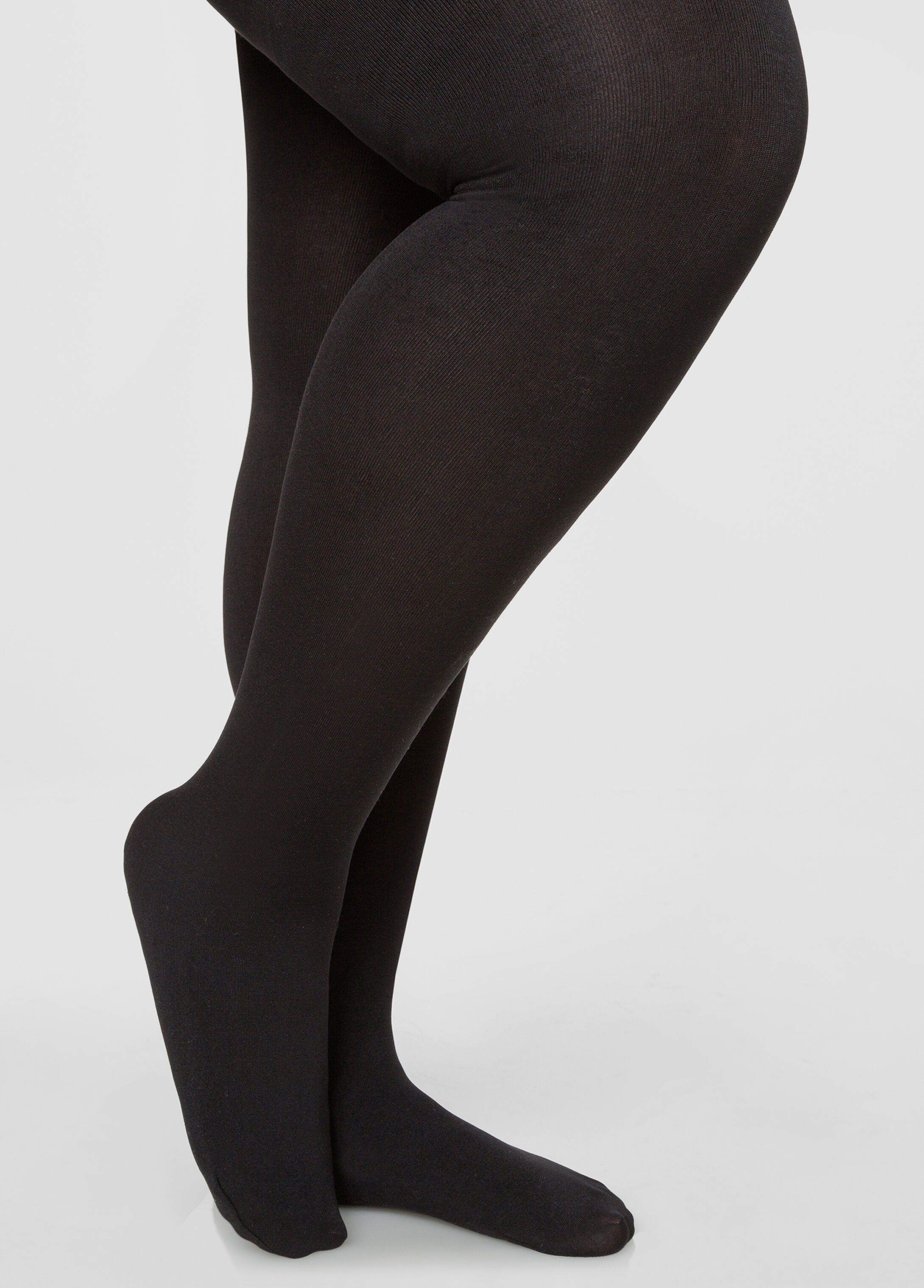 Footed Fleece Lined Tights-Plus Size Tights-Ashley Stewart