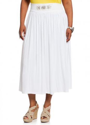 Beaded Waist Maxi Skirt