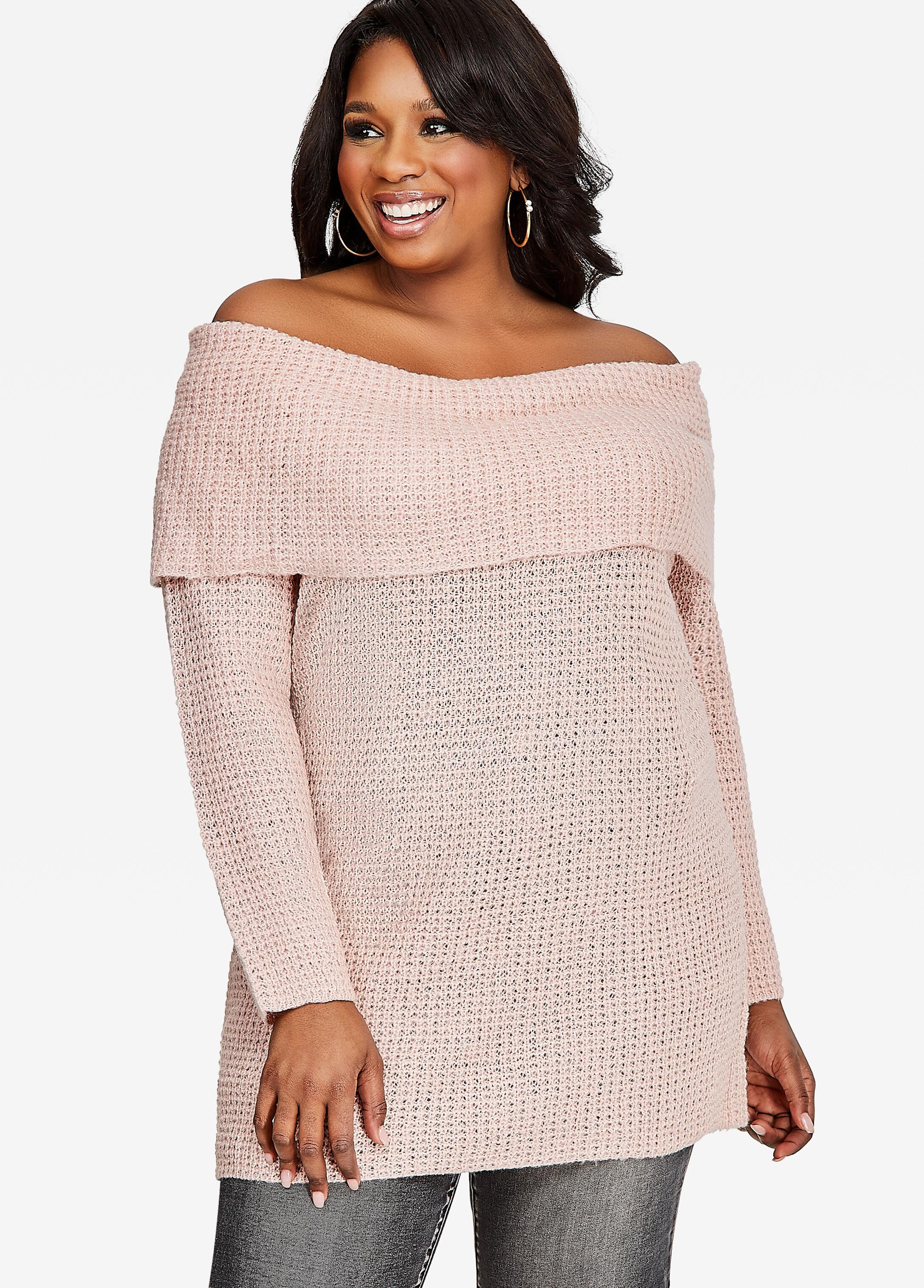 Plus-Size Off-Shoulder Tops | Ashley Stewart